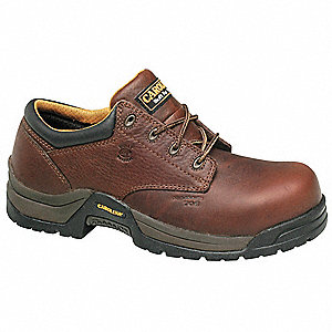 Men's Work Boots, Composite Toe Type, Leather Upper Material, Brown, Size 9EE