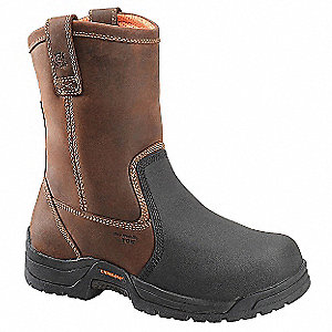 "10""H Men's Work Boots, Composite Toe Type, Leather Upper Material, Brown, Size 13D"