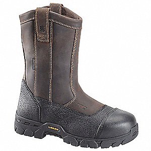"10""H Men's Work Boots, Composite Toe Type, Leather Upper Material, Brown, Size 12EE"