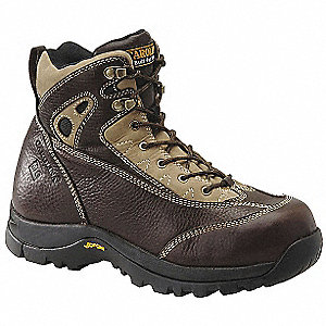 "6""H Men's Work Boots, Composite Toe Type, Leather Upper Material, Brown, Size 11-1/2EE"