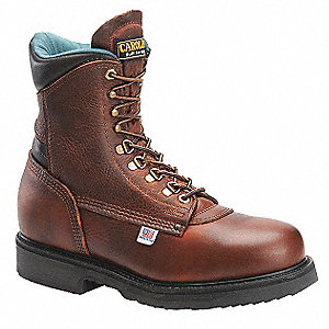 "8"" Work Boot,  10-1/2,  D,  Men's,  Brown,  Steel Toe Type,  1 PR"