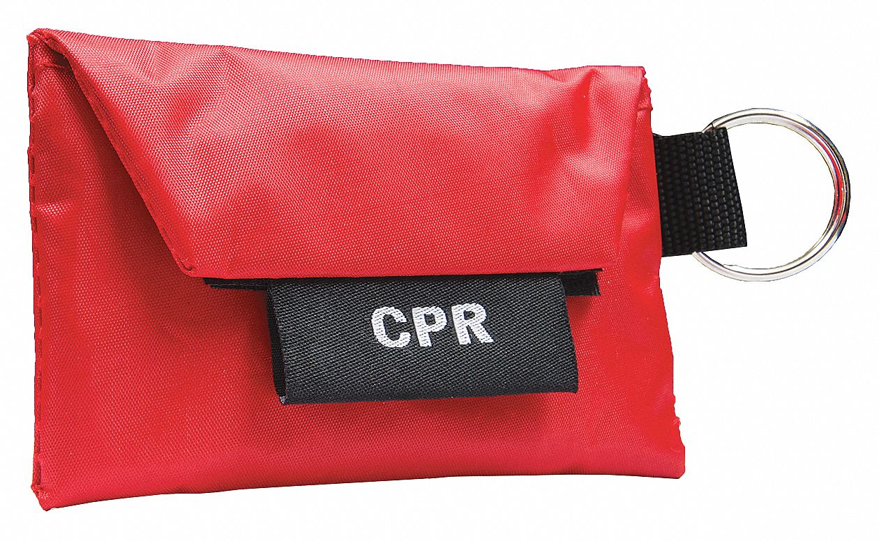 CPR 02 Key Ring with One Way Valve,  1 People Served,  Number of Components 4,  Nylon,  1 in Height