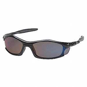 Solara Scratch-Resistant Safety Glasses, Blue Mirror Lens Color