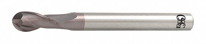 Ball End Mill,  3.50 mm,  Carbide,  TiAlN,  Non-Coolant Through