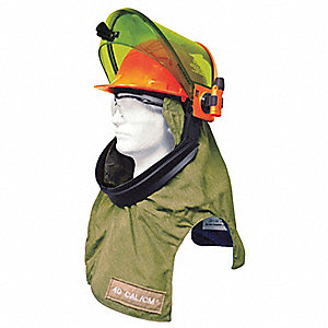 Arc Flash Hood,20in.L,6 oz.,Green