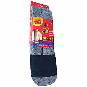 Outdoor Socks,Mid-Calf,Mens,L,Gray,PR