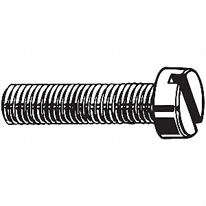 M4-0.70mm Machine Screw, Property Class 4.8 Steel, 20mm L, 100 PK
