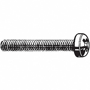 M2.5-0.45mm Cross Recessed Raised Cheesehead Screw, A2 Stainless Steel, 12mm L, 100 PK