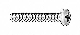 "FABORY U24522.025.0250 1//4-20 x 2-1//2/"" Pan Head Phillips Machine Screw 100 pk."
