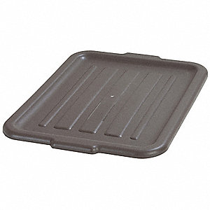 "20"" x 15"" x 1"" Durable Resin Tote Lids, Brown"