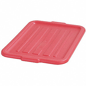 "20"" x 15"" x 1"" Durable Resin Tote Lids, Red"