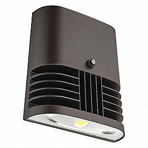 "7-1/2"" x 4-3/8"" x 8"" 13 Watt LED Wall Pack, Bronze"