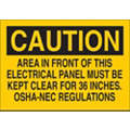 "Electrical Hazard, Caution, Aluminum, 7"" x 10"", With Mounting Holes"