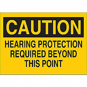 Caution Sign,Self-Adhesive,5 in. H,Text
