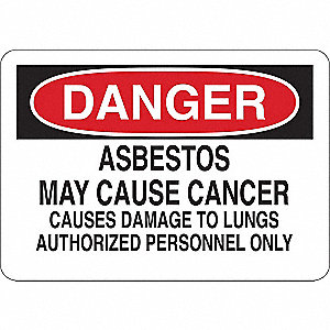"Health Hazard, Danger, Vinyl, 10"" x 14"", Adhesive Surface"