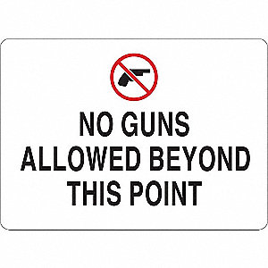 Security Sign,No Guns Allowed Bey,Pl