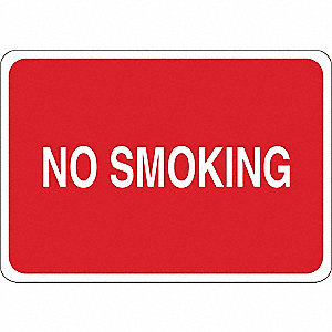 No Smoking Sign,No Smoking,Vnl,White/Red