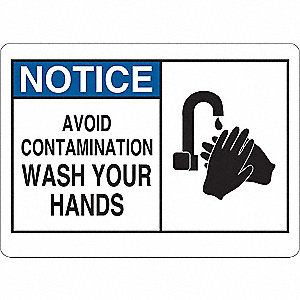 Notice Sign,Vinyl,Text and Symbol,5 in H