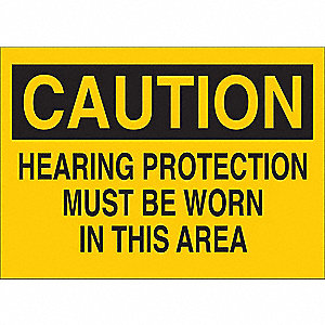 Caution Sign,Self-Adhesive,5 in. H,Eng