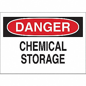 Danger Sign,Chemical Storage,Vinyl