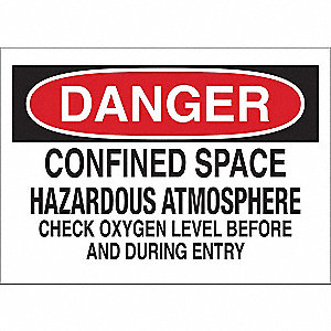 Danger Sign,Confined Space Hzrds,Plastic
