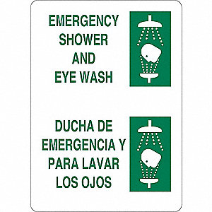Facility Sign,Vinyl,Bilingual,7 in. H