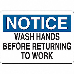 Notice Sign,Eng,Vinyl,Self-Adhesive,Text