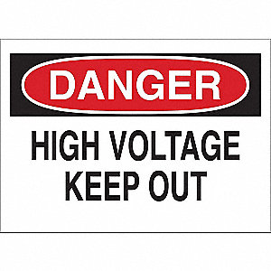 "Electrical Hazard, Danger, Aluminum, 7"" x 10"", With Mounting Holes"