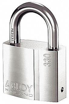 1 37/64 inH Different-Padlock, Shackle Type: Standard Shackle 1 inH x 5/16 in, Silver