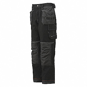 "Men's Chelsea Construction Pants, 79% Cotton, 21% Polyester, Color: Black, Fits Waist Size: 38"" x 32"