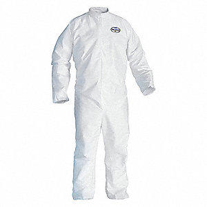 Disposable Coveralls with Open Material, White, XL