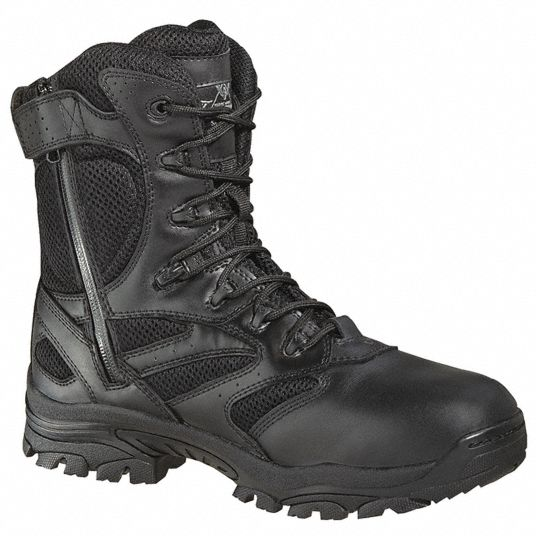 THOROGOOD SHOES Military/Tactical, 10, XW, Men's, Black, Plain Toe Type, 1  PR - 35HR94|834-6219 10XW - Grainger