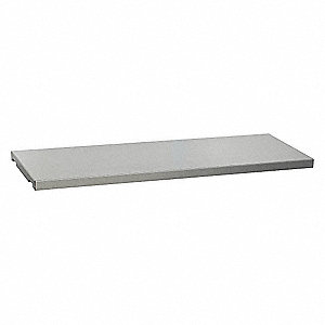 "Shelf, Galvanized Steel, Silver, 1-5/16"" x 39-5/8"" x 14"""