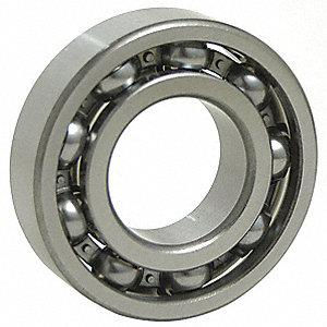 Radial Ball Bearing, Open Bearing Type, 50mm Bore Dia., 90mm Outside Dia.