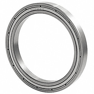 Radial Ball Bearing, Double Shield Bearing Type, 35mm Bore Dia., 47mm Outside Dia.