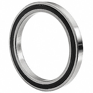 Radial Ball Bearing, Double Sealed Bearing Type, 35mm Bore Dia., 55mm Outside Dia.