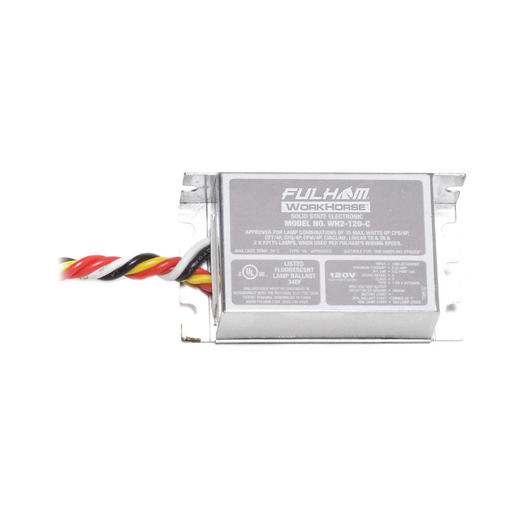 Electronic Ballast, 35 Max  Lamp Watts, 120 V, Instant Start, No Dimming