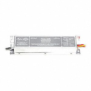 Electronic Ballast, 70 Max. Lamp Watts, 120 V, Instant Start, No Dimming