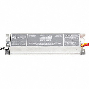 Electronic Ballast, 128 Max. Lamp Watts, 277 V, Instant Start, No Dimming