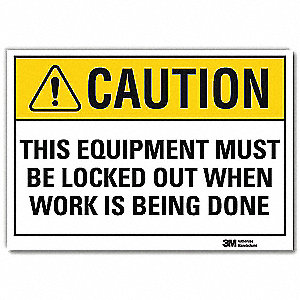 Safety Sign,Text and Symbol,7in.Hx10in.W