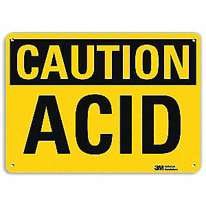 Safety Sign,Acid,7in.H