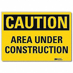 Safety Sign,Area Undr Cnstrctn,14in.W