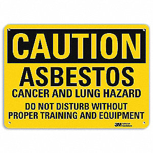 "Health Hazard, Caution, Aluminum, 7"" x 10"", Engineer"