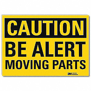 Safety Sign,Moving Parts,5in.H x 7in.W