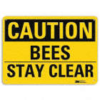 Caution: Bees Stay Clear Signs