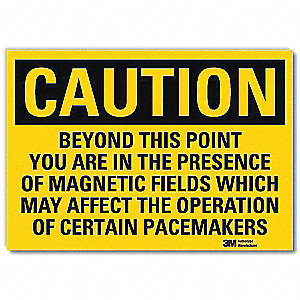 "Health Hazard, Caution, Vinyl, 7"" x 10"", With Mounting Holes, Engineer"