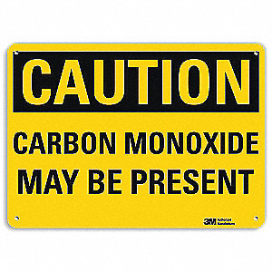 "Chemical, Gas or Hazardous Materials, Caution, Aluminum, 10"" x 14"", With Mounting Holes, Engineer"
