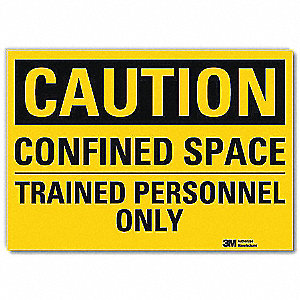 Safety Sign,Trained Personnel Only,5in.H