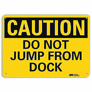 Safety Sign,Do Not Jump,7in.H