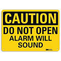"Security and Surveillance, Caution, Aluminum, 10"" x 14"", With Mounting Holes, Engineer"